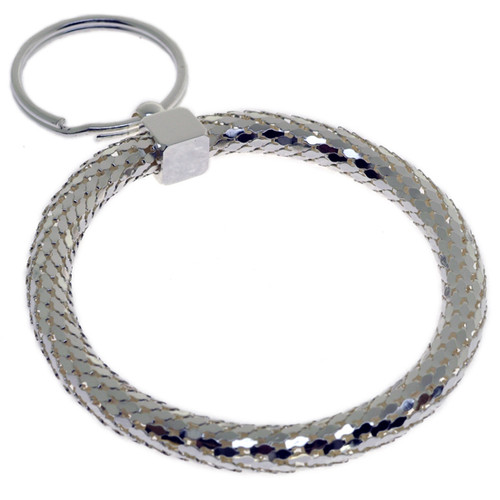 Elegant Circle Silver Color Key Chain