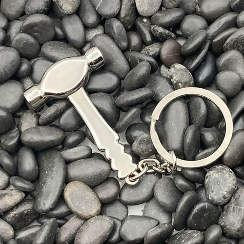 Nickel Plated Hammer Deluxe Key Chain