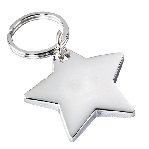Silver Deluxe Star Keychain