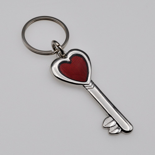 Key To My Heart Keychain Heart on a Key Ring