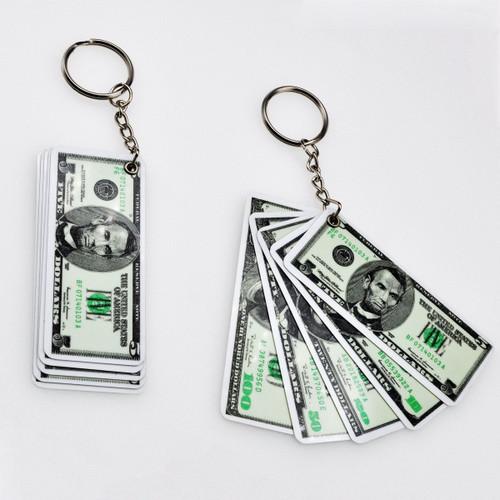 Money Keychain - Five Bills