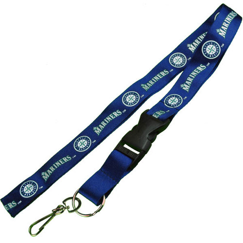 Seattle Mariners Logo Lanyard Keychain