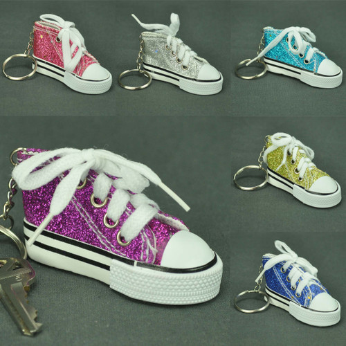 Mini Sneaker Key Chain Glitter Colors
