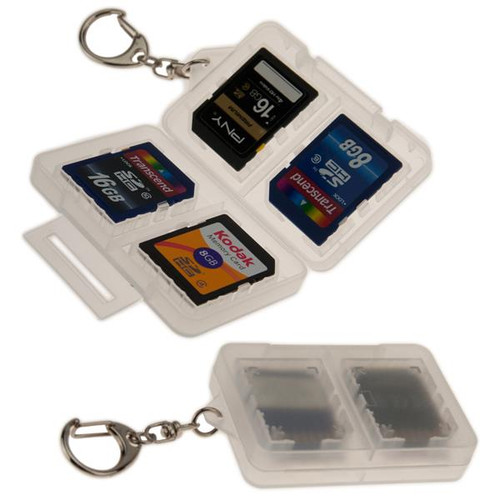 SD Memory Card Holder with Clip