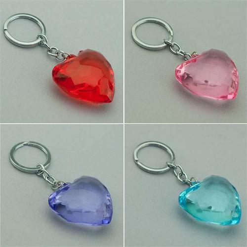 Crystal Heart Keychain All Colors