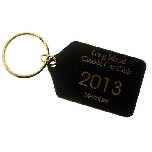 Black Brass Tablet Key Tag CUSTOM ENGRAVED