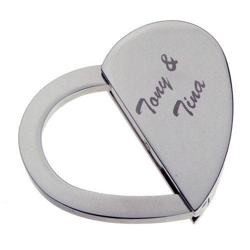 Oval/Heart Switchable Silver - PERSONALIZED
