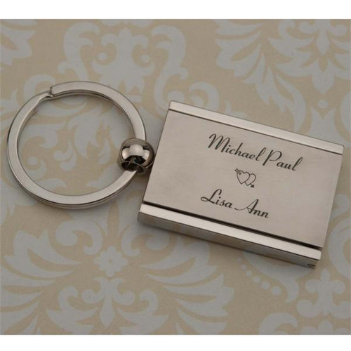 Photo Locket Key Chain Rectangle - Custom Engraved