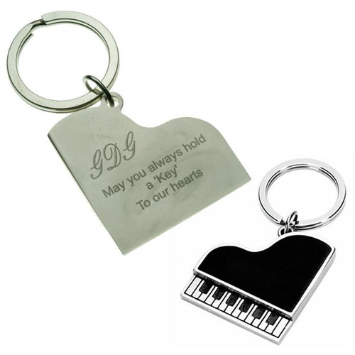 Piano Keychain Black - PERSONALIZED