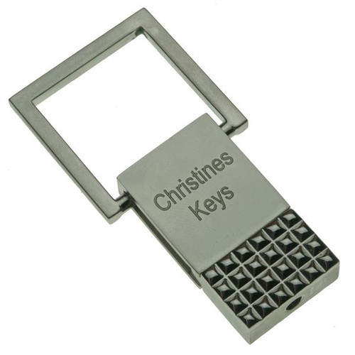 Pull Top Keychain with Grid - PERSONALIZED