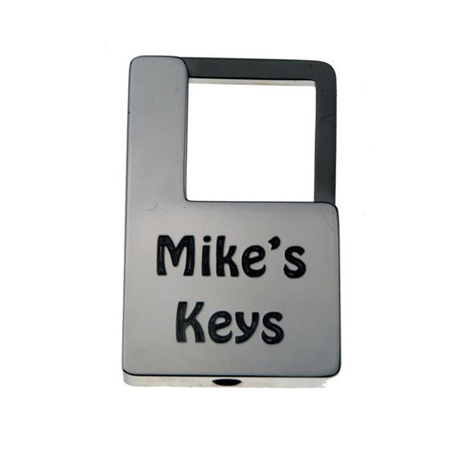 Nickel Plated Rectangle with Side Twist - Custom Engraved