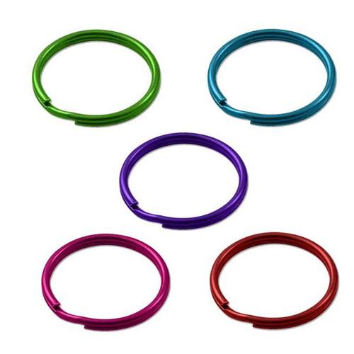 Color Split Key Rings