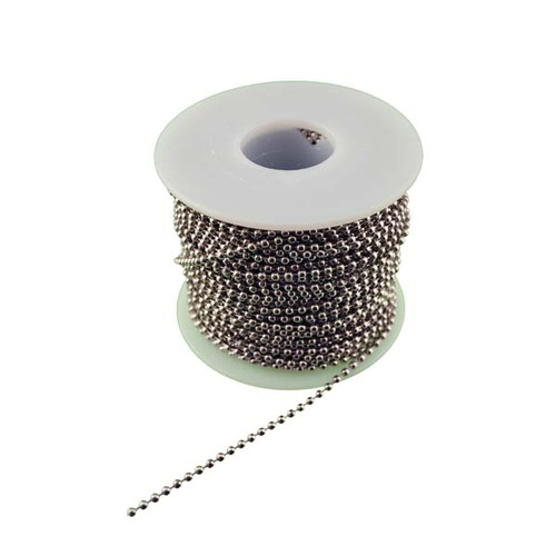 Number 3 Nickel Plated Steel Ball Chain 100 Foot Spool