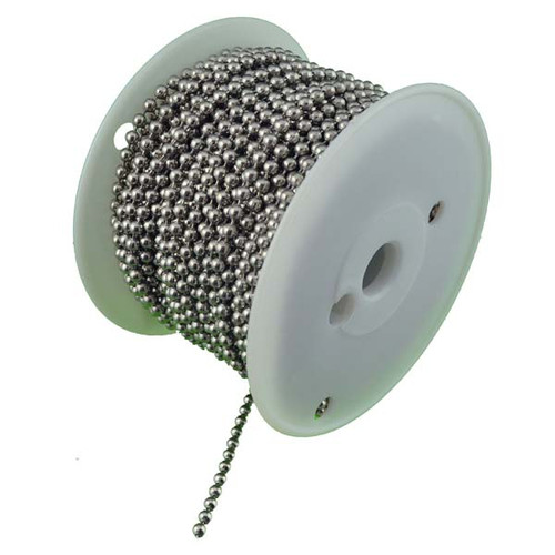 Number 10 Nickel Plated Steel Ball Chain 100 Foot Spool