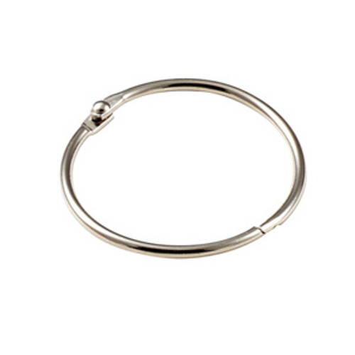 Binder Ring Snap Open Keyring 1-1/4 Inch Diameter
