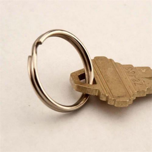 24mm Promo Quality Split Key Ring Nickel Plated 100 pack