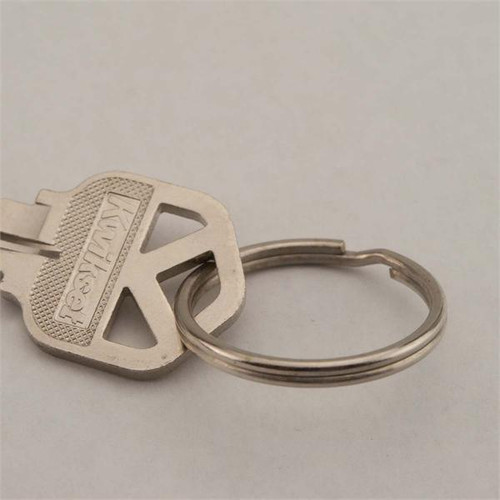 28mm Promo Quality Split Key Ring Nickel Plated 100/Pack