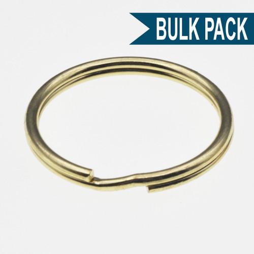 Brass Plated Split Key Ring 1-1/4 Inch Diameter Bulk