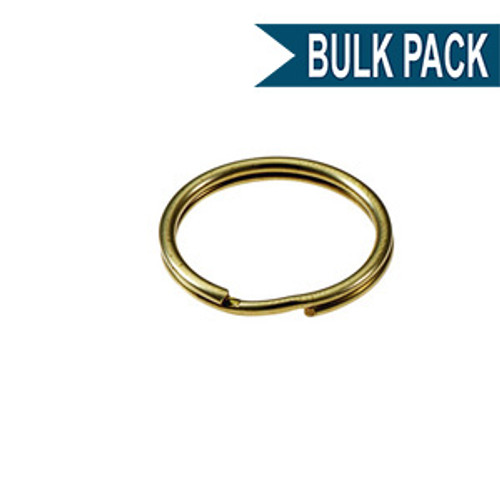 Solid Brass Split Key Ring 1/2 Inch Diameter (USA)-Bulk Pack of 100