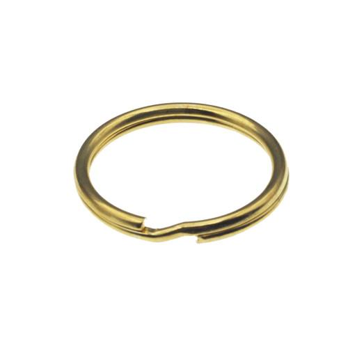 Brass Plated Split Key Ring 1 Inch Diameter