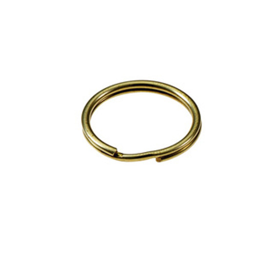 Solid Brass Split Key Ring 1/2 Inch Diameter (USA)