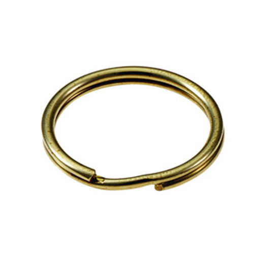 Solid Brass Split Key Ring 3/4 Inch Diameter (USA)