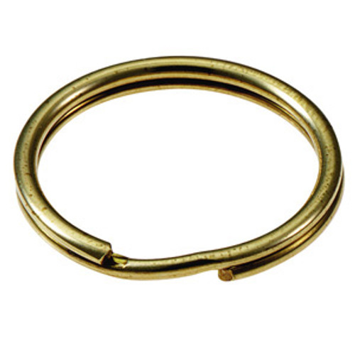 Solid Brass Split Key Ring 1 Inch Diameter (USA)