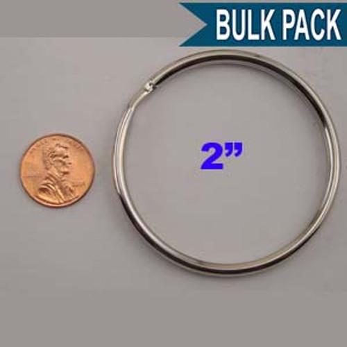 Split Key Ring 2 Inch Diameter Nickel Plated (China)