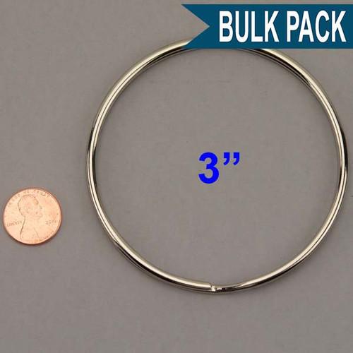 Split Key Ring Nickel Plated 3 Inch Diameter (China)