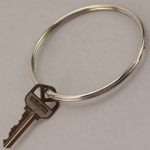 Split Key Ring Nickel Plated 3 Inch Diameter (China)