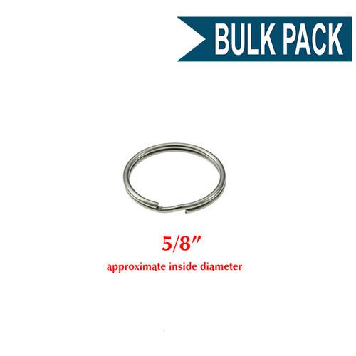 Photo of Heavy Duty Split Key Ring Nickel Plated 5/8 Inch Diameter (USA)-BULK PACK of 100