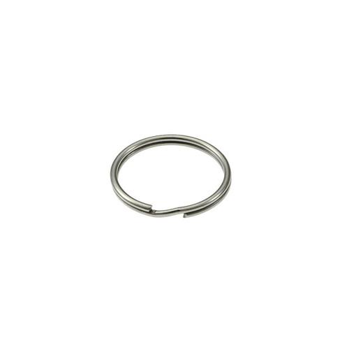 Photo of Heavy Duty Split Key Ring Nickel Plated 3/4 Inch Diameter (USA)