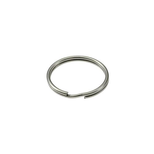 Photo of Heavy Duty Split Key Ring Nickel Plated 7/8 Inch Diameter (USA)
