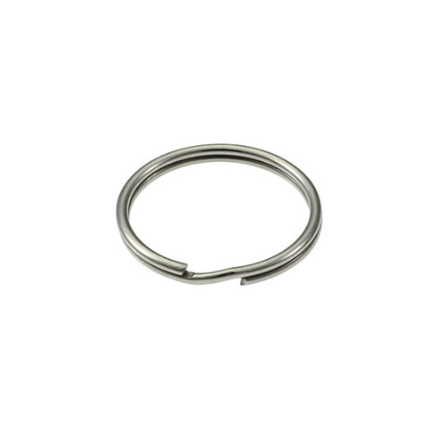 Photo of Heavy Duty Split Key Ring Nickel Plated 1 Inch Diameter (USA)