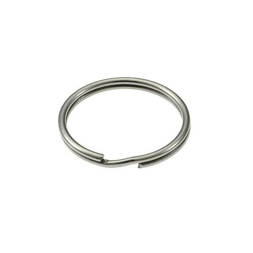 Photo of Heavy Duty Split Key Ring Nickel Plated 1-1/8 Inch Diameter (USA)