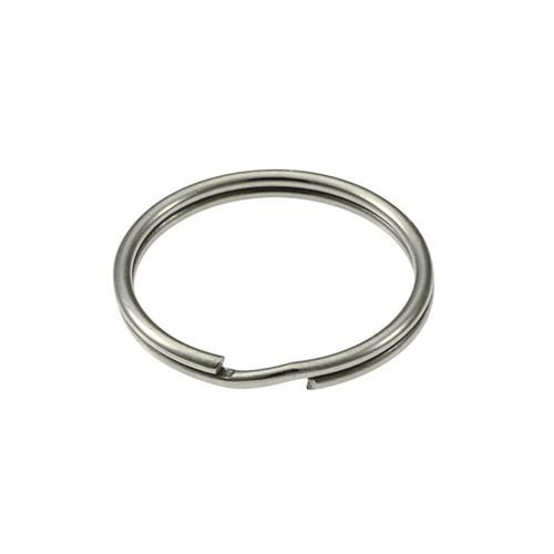 Photo of Heavy Duty Split Key Ring Nickel Plated 1-1/4 Inch Diameter (USA)
