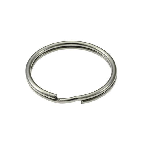 Photo of Heavy Duty Split Key Ring Nickel Plated 1-3/8 Inch Diameter (USA)