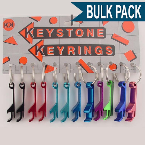 Bottle Opener Key Chain Top Popper - Bulk Pack