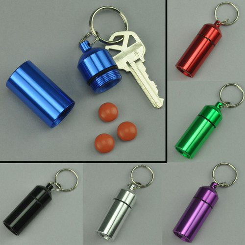 Wide Pill Holder Anodized Aluminum