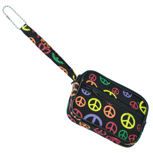 Peace Signs Coin Purse Keyring