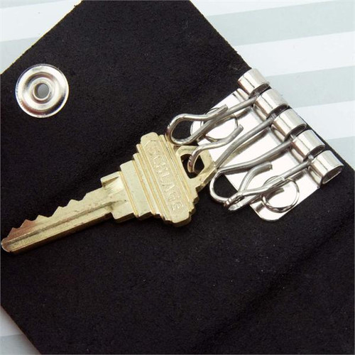 4 Hook Leather Key Case Heavy Duty