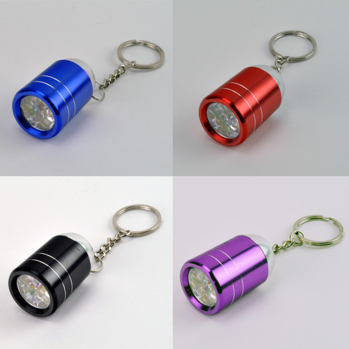LED Barrel Light Key Chain