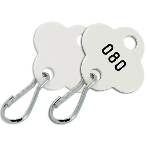Shamrock Shape Key Cabinet Tag NUMBERED 100 to a Pack