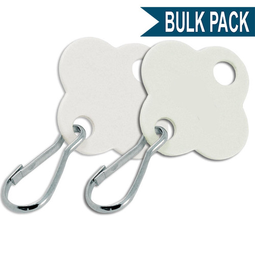 Shamrock Shape Key Cabinet Tag Bulk Pack of 20