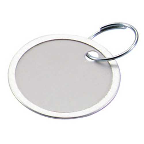 Metal Rim Paper Key Tag with Keyring 2-1/4 Inch