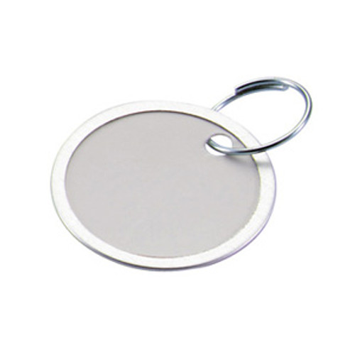 Metal Rim Paper Key Tag With Ring 1-9/16 Inch