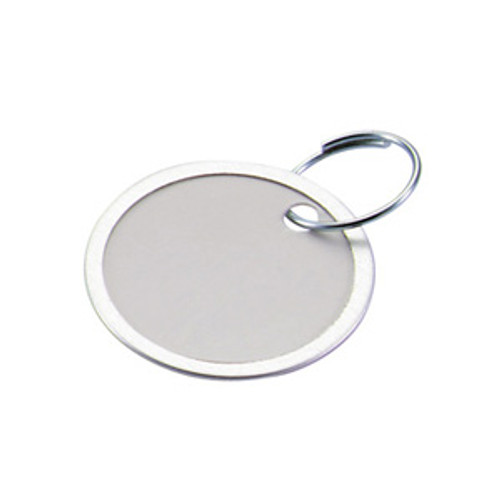 Metal Rim Paper Key Tag with Keyring - 1-1/4 Inch