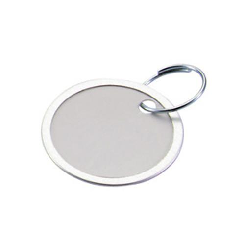 Metal Rim Paper Key Tag with Keyring - 1-1/4 Inch