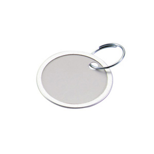 Metal Rim Paper Key Tag with Keyring - 15/16 Inch