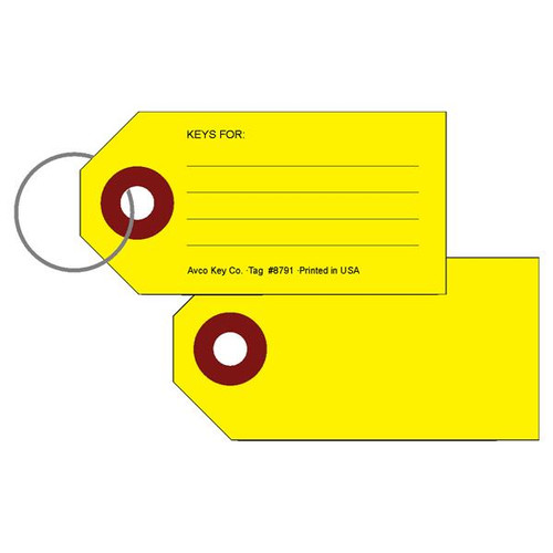 All Purpose Identification Tag with Keyring 50 PACK